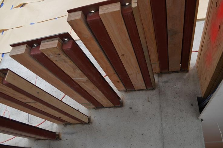 Best View From Below Of Cantilevered Steel Stair Made Stairs 400 x 300