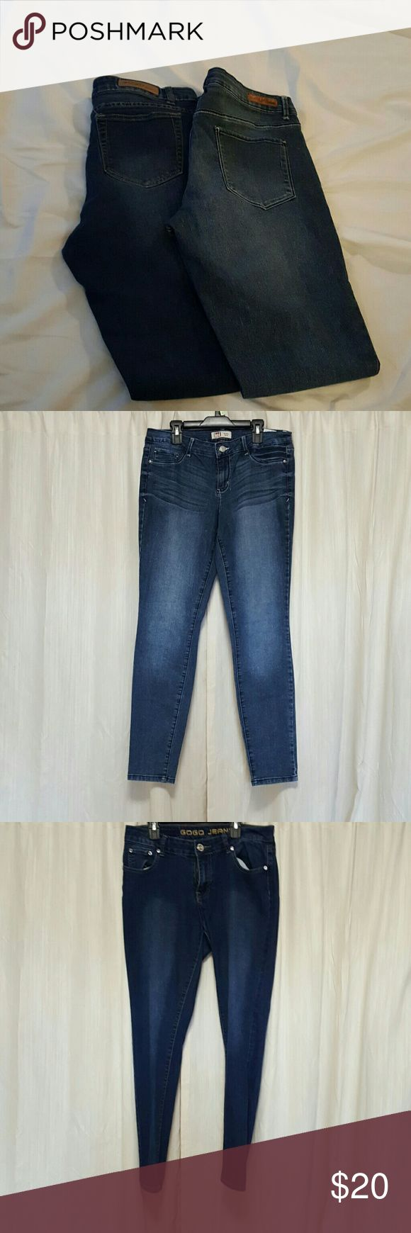 """Denim 2 pack 2 pairs of jeans brands include lei and gitton. Inseam 29-29.5"""" Jeans Skinny"""