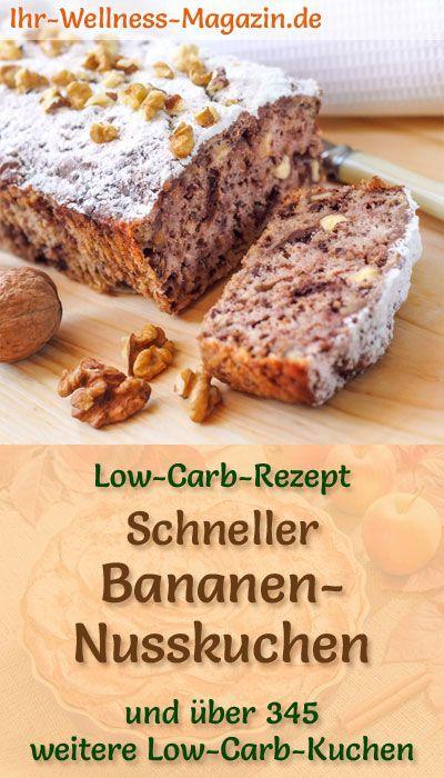Schneller, einfacher kohlenhydratarmer Bananenkuchen – Rezept ohne Zucker