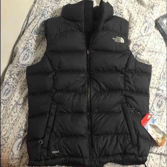 Black North Face Vest Northface Women's Nuptse 2 vest size small. Sold out everywhere online!  Brand new with tags North Face Jackets & Coats Vests