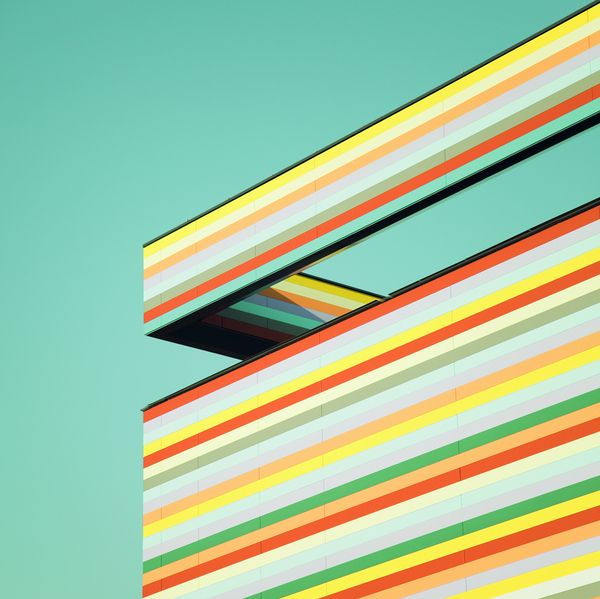 #angles: Angles, Industrial Architecture, Building, Urban Photography, Facade, Color, Matthias Heiderich, Inspiration Photography, Spektrum Ein