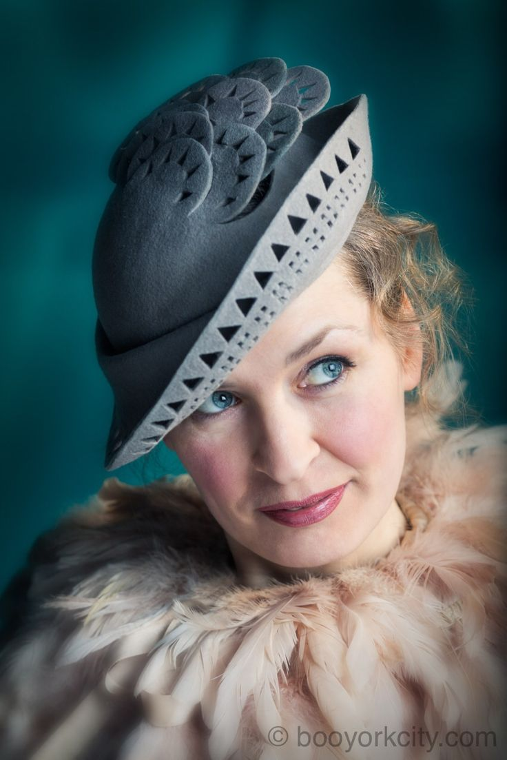 Chrysler hat © by Boo Paterson and Lilly Lewis Millinery.   For full story, click here: http://www.booyorkcity.com/tribute-to-van-alen-with-chrysler-hat/