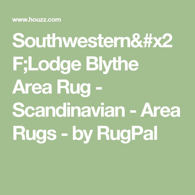 Southwestern/Lodge Blythe Area Rug - Scandinavian - Area Rugs - by RugPal