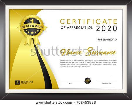 25 melhores ideias de Certificate of achievement template no