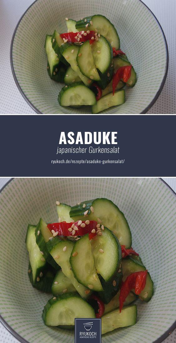 Asaduke Gurkensalat Der japanische Klassiker