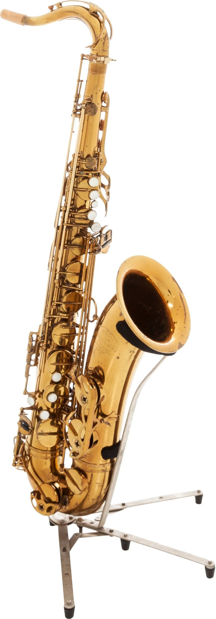 1959 Selmer Mark VI Brass Tenor Saxophone, Serial # A very nicely  re-lacquered horn with minor - Available at 2015 June 20 Vintage Guitars &.