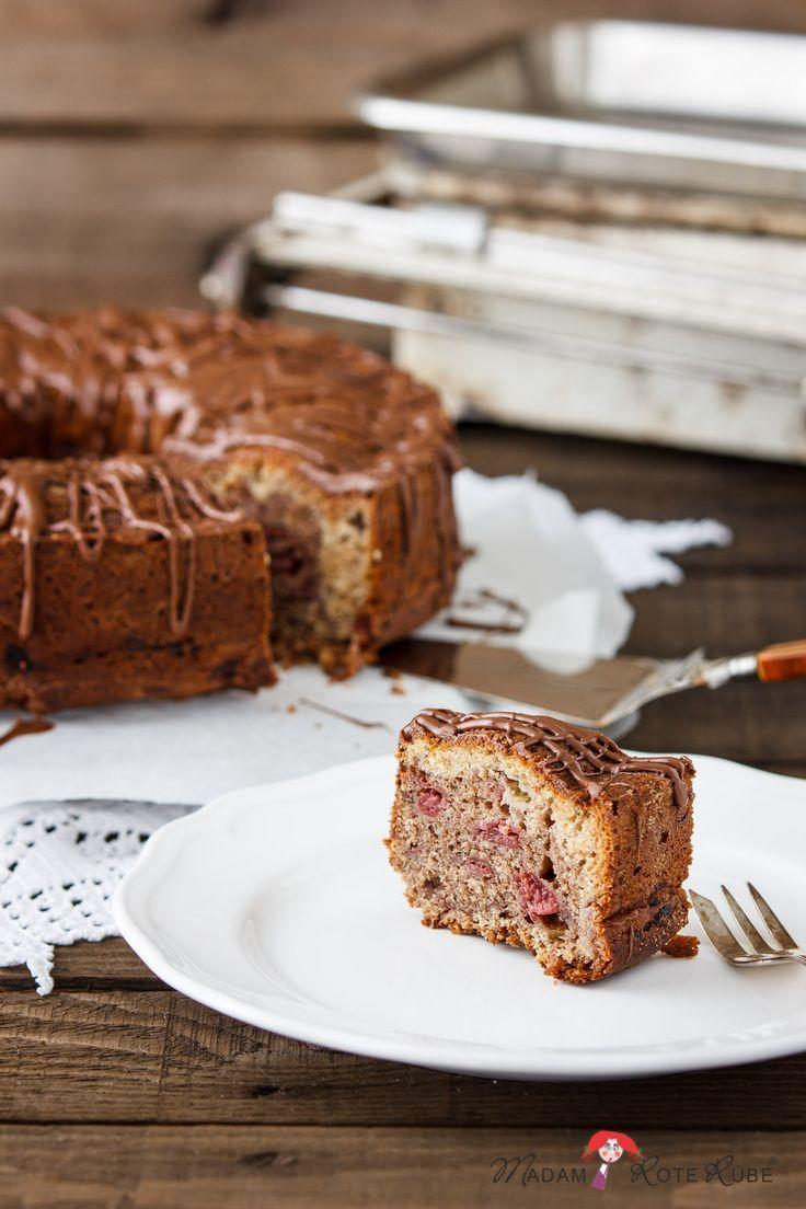 Der Aufsteiger Vom Marmorkuchen Zum Kirsch Banane Swirl Cake Mit Schokoverwirrungen Marmorkuchen Kuchen Lebensmittel Essen