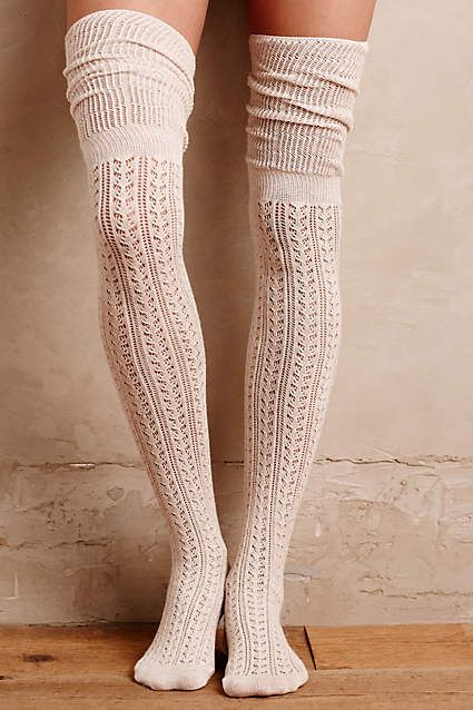 Openwork Over-The-Knee Socks - anthropologie.com