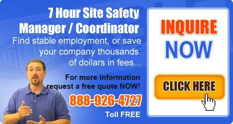 The 7 hour Site Safety Manager Refresher Training is an all-inclusive program that lets you finish the 7 hours of training required each and every three years to renew your certificate with the Department of Buildings (DOB).