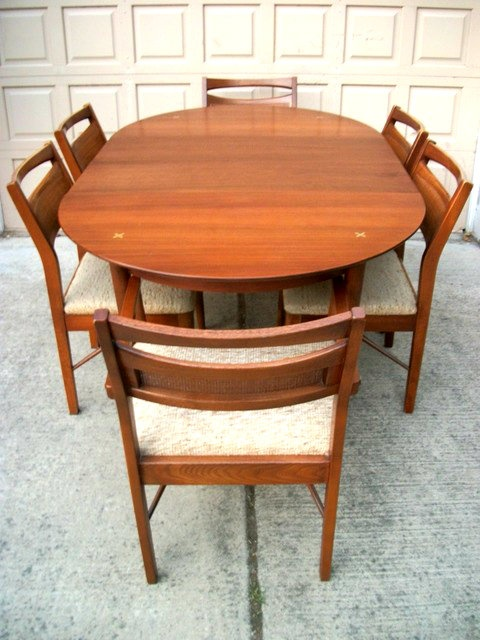 mid century modern furniture portland. portland beautiful dining table mid century modern w 2 leaves and 6 chairs furniture m