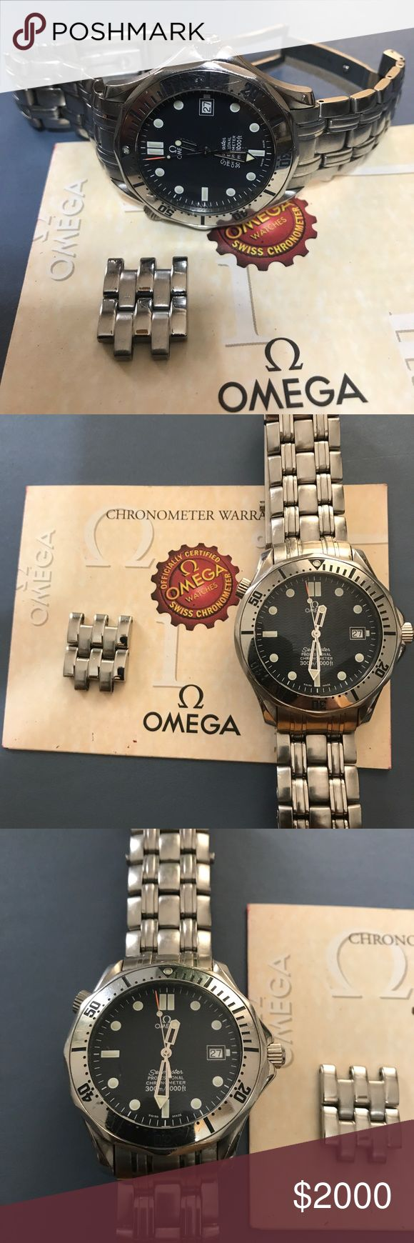 Omega watches Men's SeaMaster .(Swiss made) SeaMaster collection,41mm diameter ,stainless steel,crystal sapphire,water resistance 300 M /1000FT.                                 It is in really good condition.                                                           60229878.                                                                               Price is Firm .                                                                                  No lowballs Please . Omega Accessories…