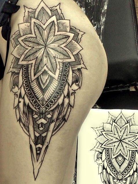 tatuaż na biodrze #tatuaże