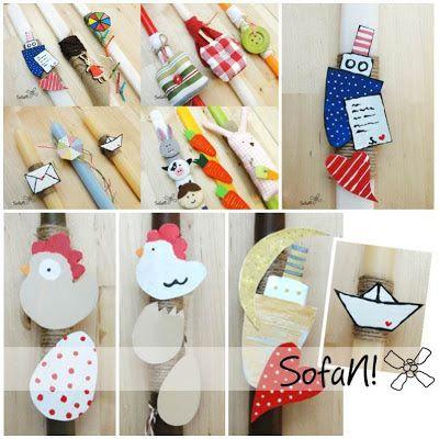 ! ♥ SofaN handmade: Νέες πασχαλινές λαμπάδες!