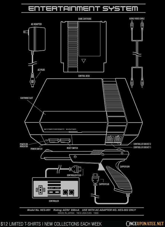 Entertainment System T-Shirt $12 Nintendo tee at Once Upon a Tee!