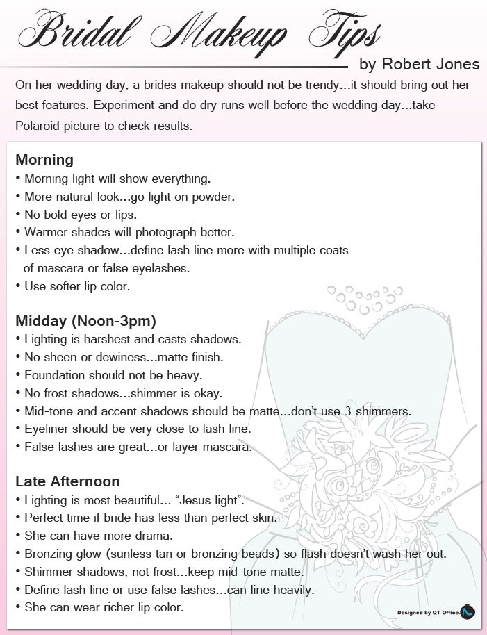 Mary Kay® Bridal Makeup Tips by Robert Jones Perfect to help choose your right time of day!