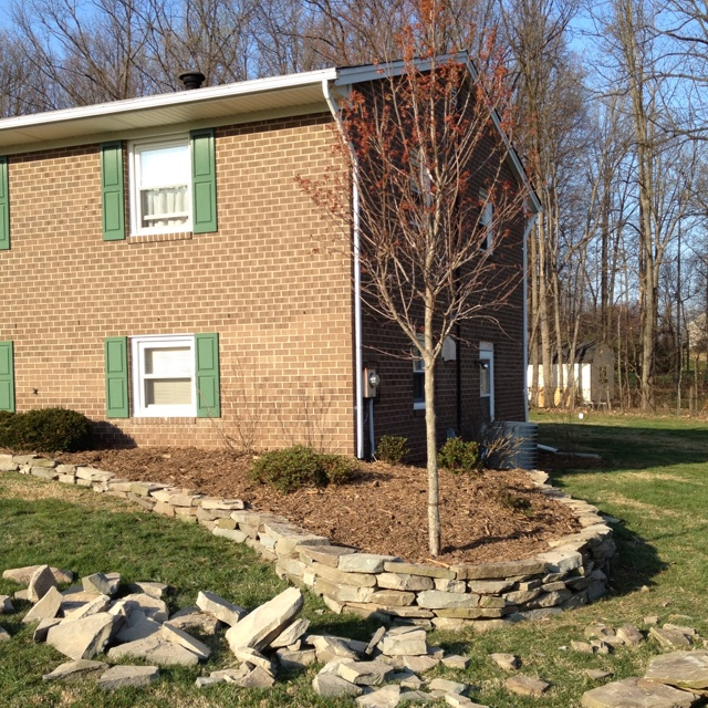 Dry Stacked Field Stone Retaining Wall