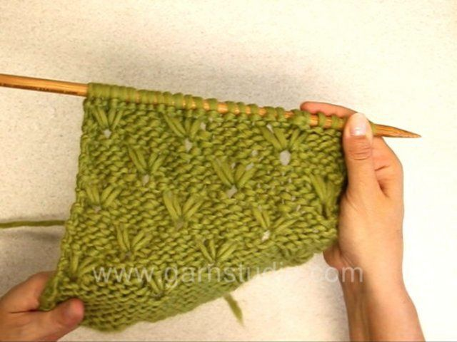 DROPS Knitting Tutorial: How to knit a long stitch pattern