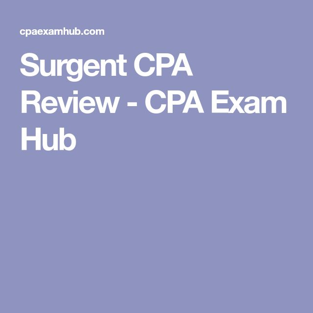 Surgent CPA Review - CPA Exam Hub