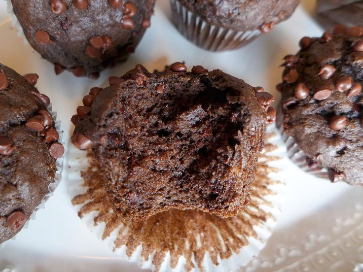 Dimples & Delights: One Bowl Chocolate Banana Muffins
