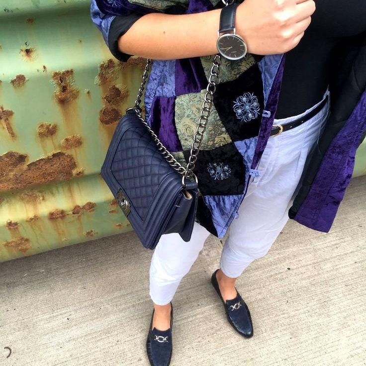 Vintage Patchworkjacke aus Samt - Jess en Vogue