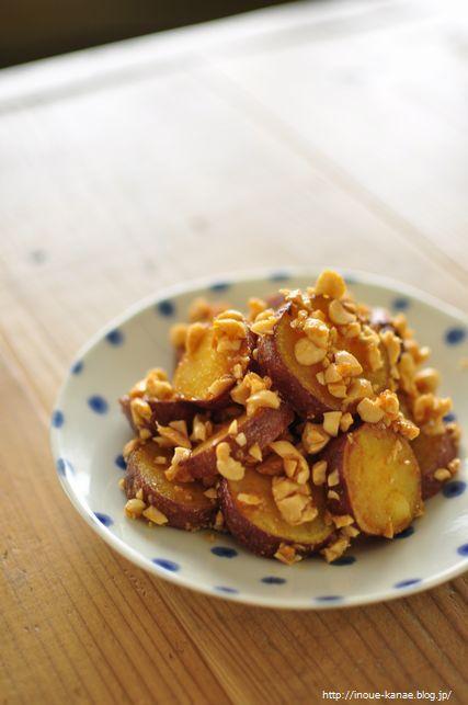ほくほく!甘じょっぱい◎サツマイモのピーナッツ味噌和え