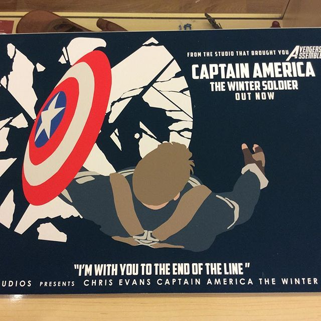 """""""A3 size Captain America Winter Soldier fan art print by Huddersfield art student Jack Murphy high quality paper on a mountboard £45 Instore now and on our depop store #wintersoldier #captainamerica #marvelfanart #avengersart"""" Photo taken by @diversionsgifts.co.uk on Instagram, pinned via the InstaPin iOS App! http://www.instapinapp.com (07/03/2015)"""