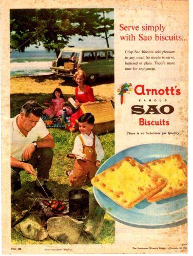 ARNOTTS BISCUITS KITCHENALIA - SAO Vintage advertisement 1962 original