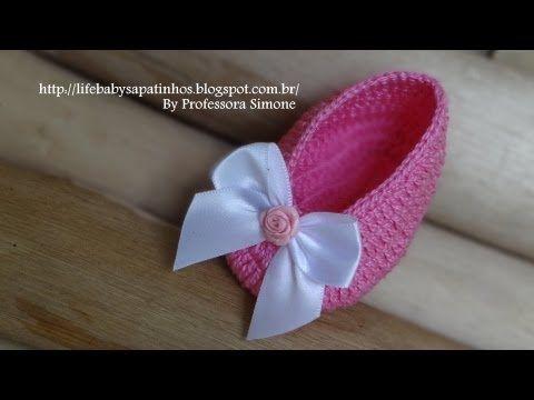 Passo a passo Sapatilha Princesinha em Crochê - YouTube