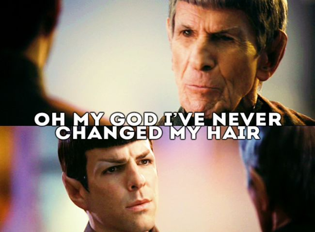 Mr. Spock, everyone's favorite rules lawyer, is integral to the plot of Star Trek Into Darkness, and he's also a fan favorite.  But we thought we'd take a moment to celebrate the character's creation, some of his greatest moments, and also the fact that Leonard Nimoy is an epic smartass, in GIF form. Fair warning, there will be at least one of these that suddenly fills the room with dust.