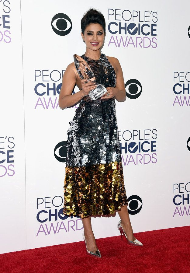 """Last night, Priyanka Chopra became the first South-Asian to win a People's Choice Award when she bagged the """"Favorite Actress In A New TV Series"""" award for her lead role in Quantico. 