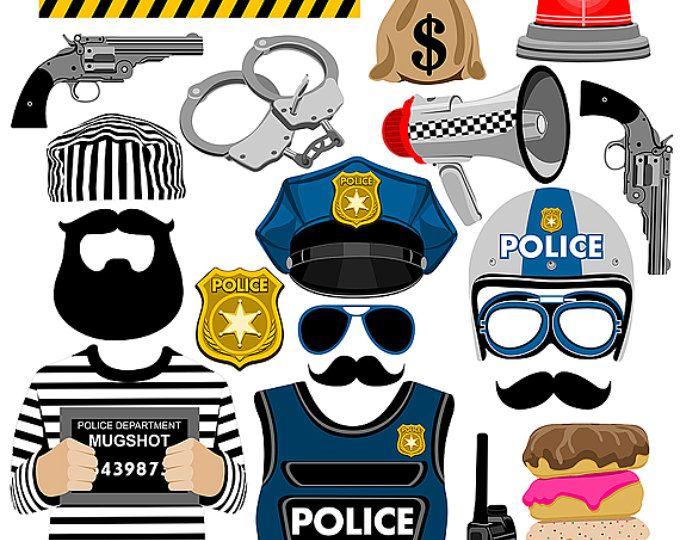 Accessoires de fête cabine de photo numérique police téléchargement télécharger