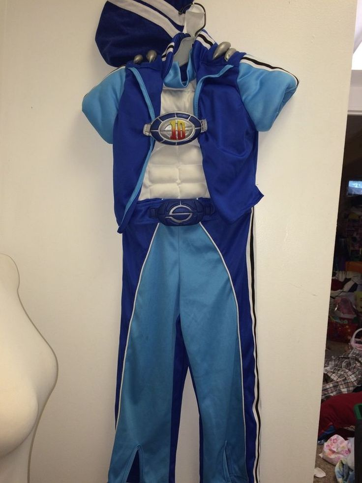 RARE LAZY TOWN SPORTACUS COSTUME  ARM SHIELDS HAT 3-4-5 YRS LAZYTOWN #NickJr #CompleteCostume