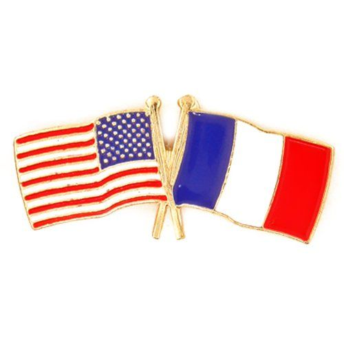 PinMart Has The Industryu0027s Largest Selection The Crossed Flag And  Friendship Pins Including The USA   France Flag Pin.