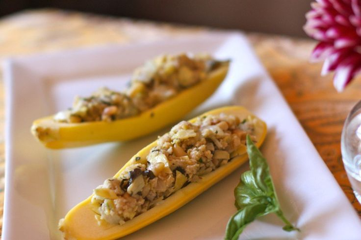 Cheesy Stuffed Summer Squash - Danielle Walker's Against All Grain