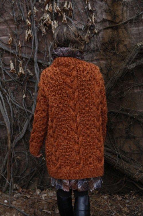 Fox coloured chunky knit