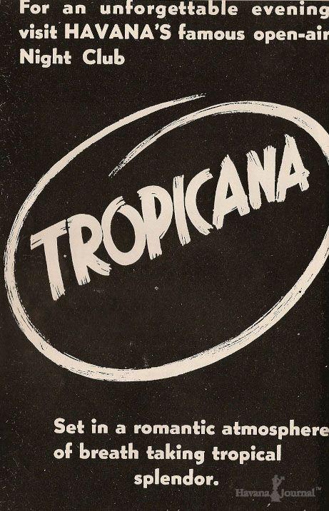Vintage 1950's Havana Tropicana night club