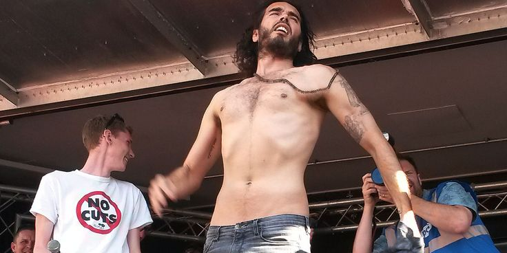 Russell Brand Is At The Houses of Parliament Calling For A Revolution