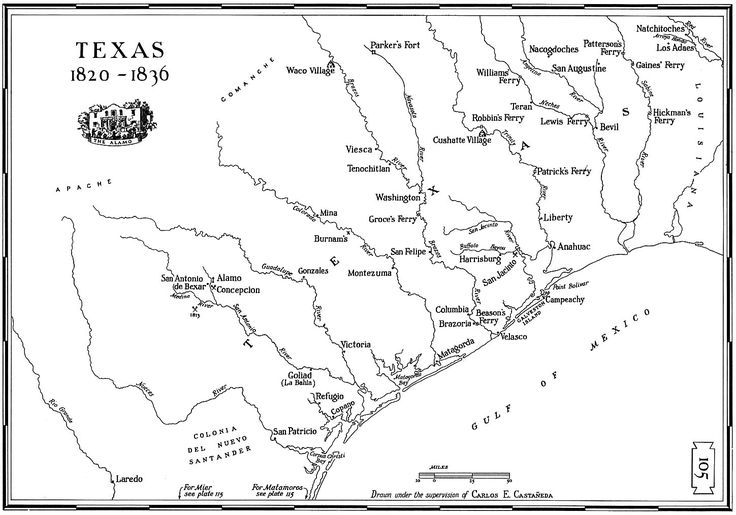 Texas Maps Pinterest Texas - Blank us map 1820