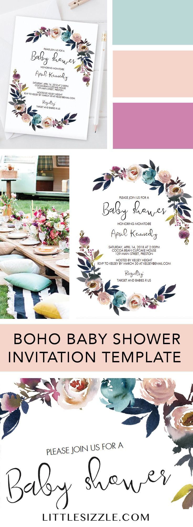 Baby shower invitation ideas.