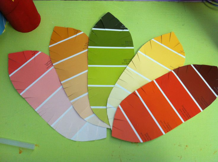 feather shape paint samples for thanksgiving day theme party