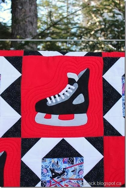 Hockey Quilt Patterns Tamarack Shack Hockey Skate Quilt