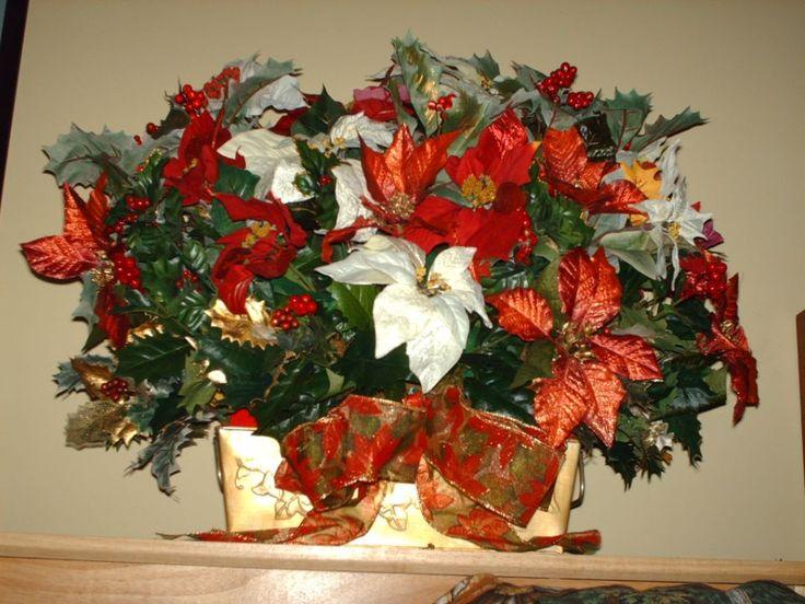 Artificial Christmas Table Arrangements