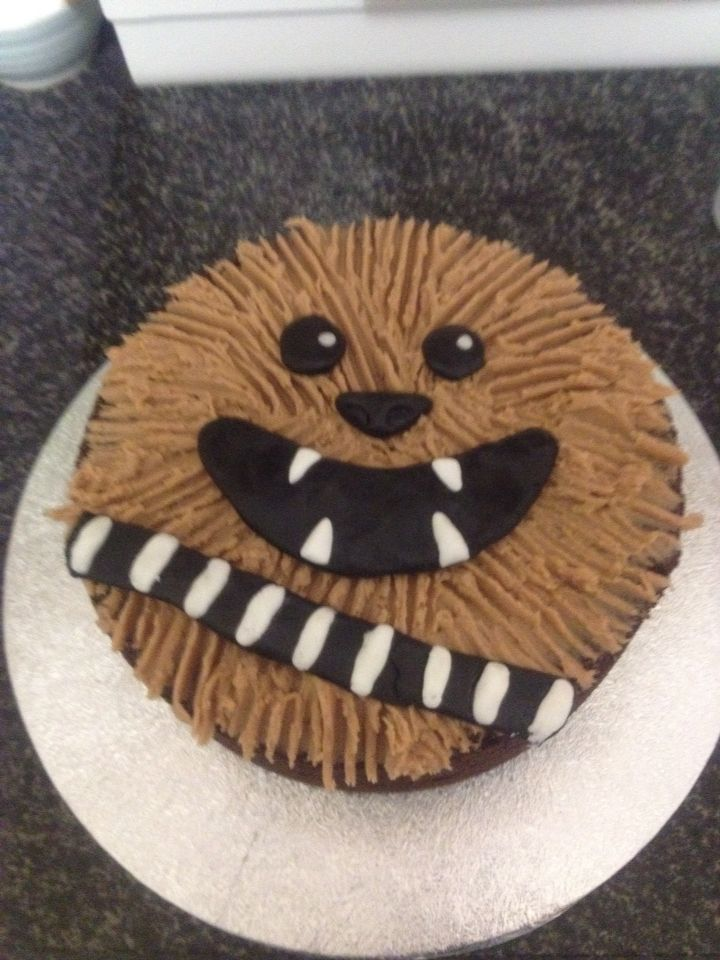 Our version of a chocolate chewbacca cake for hubbies birthday