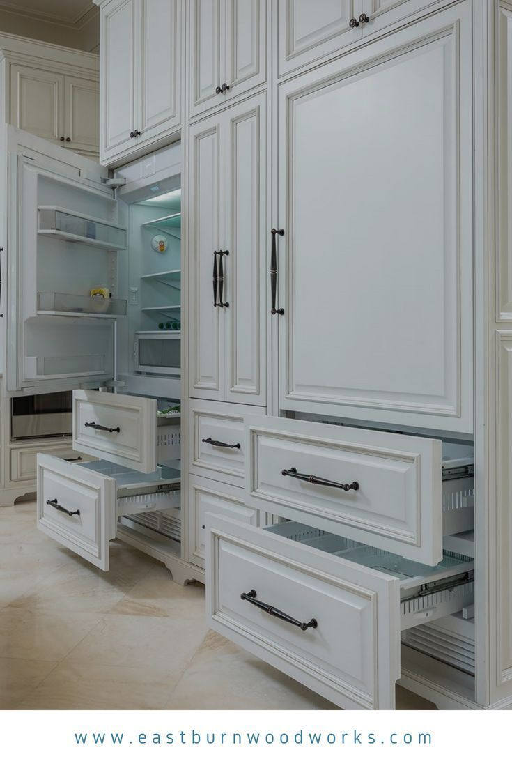 White Appliance Panels On A Subzero Fridge White Kitchen Appliances Kitchen Decor Inspiration White Appliances