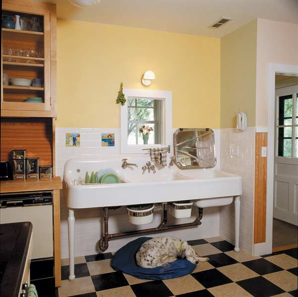 par for the 1930s this sink relies primarily on natural light from a window 341 best 1920s kitchens images on pinterest   1920s kitchen      rh   pinterest co uk