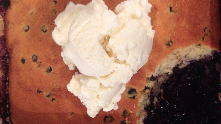 Pouding aux bleuets (Bleuets congelés et séchés)