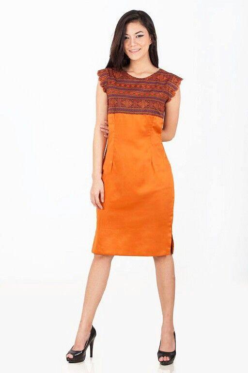 Mavazi women spring summer - orange Ulos - mini dress