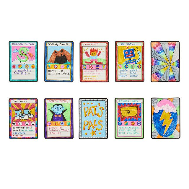 Make Your Own Trading Cards Kit Diy Kids Tcg Uncommon Goods Card Kit Sticker Sheets Diy For Kids