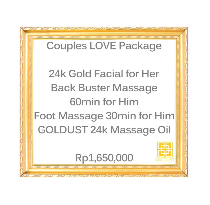 GOLDUST Specials for the whole month of February! Bring your loved one in for some couples pampering and feel like GOLD.  | GOLD | FEEL LIKE GOLD | 24K GOLD | BEAUTY | SKIN CARE | BODY CARE | NAIL CARE | BODY AND BEAUTY PRODUCTS | FACIAL | MASSAGE | MANICURE | PEDICURE | NAIL POLISH | HAIR SPA | TREATMENTS | RELAX | PAMPERING | LUXURY | INDULGE | JEWELRY | RESORT WEAR | HEALTHY GLOW | WELL-BEING | SPA | DAY SPA | BEAUTY LOUNGE | BEACH | SUNSET | TROPICAL | SUMMER | CANGGU | BALI | INDONESIA