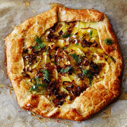 Goat Cheese, Leek, and Potato Galettes with Pistachio Crust Recipe